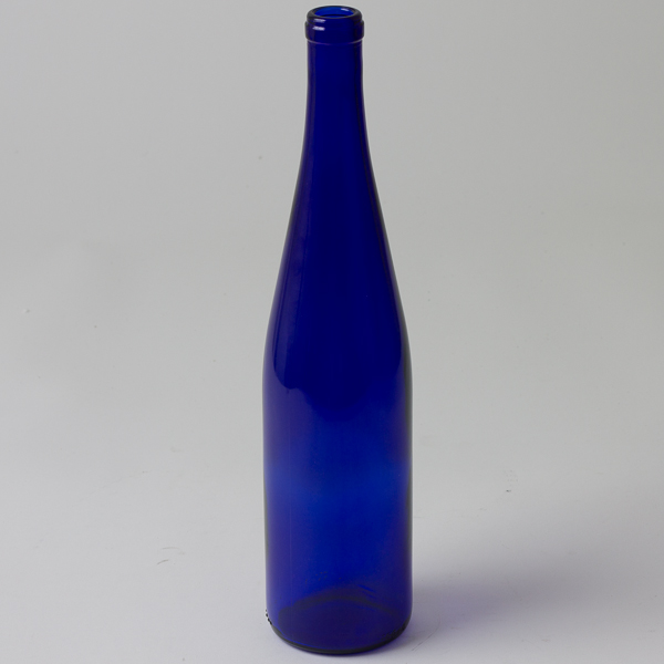 750ml Stretch Hock Wine Bottle Blue Case