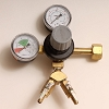 CO2 Regulator, Deluxe Dual Gauge Wye 5/16