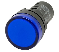 Plastic LED Indicator Light 22mm 220V BLUE