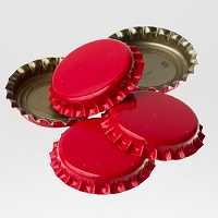 Bottle Caps - Red (Per Oz)