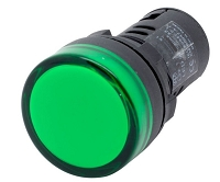Plastic LED Indicator Light 22mm 220V GREEN