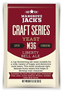 Dry Yeast, Mangrove Jack's M36 Liberty Bell Ale