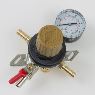 "CO2 Regulator, Pass Through 5/16"" Barb"