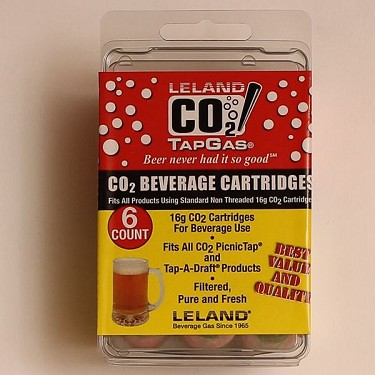 CO2 Cartridge, 16g 6ct Unthreaded