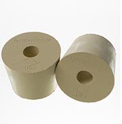 Drilled Rubber Stopper, #6 1/2