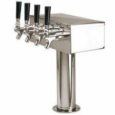 "Draft Tower - Four Faucet (4"" Column) - T-type"