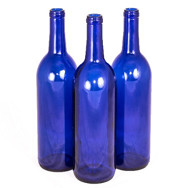 750ml Bordeaux Blue Wine Bottle (Case)