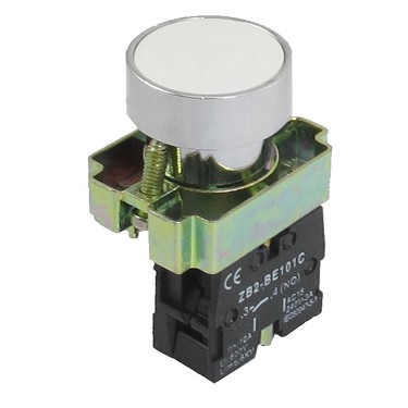 Push Button Switch 22mm 1NO momentary White