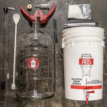 Basic Homebrew Equipment Kit for 5 Gallons of Beer (Glass Carboy)