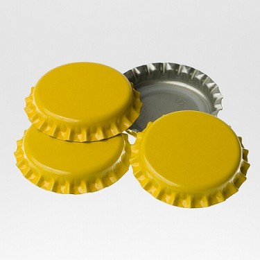 Bottle Caps - Yellow (Per Oz)